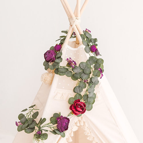 Long Floral Garland for Teepee Tent