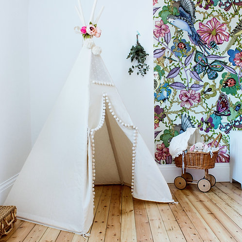 Kids Teepee with Poles, Kids Tipi Tent
