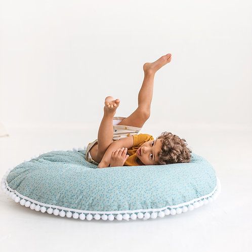 Giant Floor Pillow for Kid Room in Dark Mint