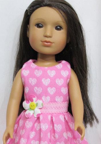 Glitter Girl or Wellie Wishers: Pink Hearts Dress, bag