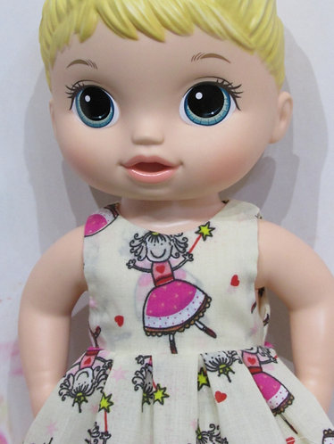 "12"" Baby Alive doll: Fairy Princesses Dress, matching panties"