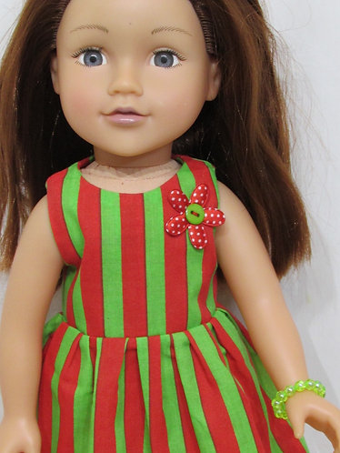 DesignaFriend or Sindy: Christmas Elf Stripe Dress