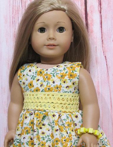 American Girl, Our Generation:  Golden Flowers Dress Set