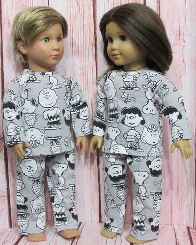 American Girl or Our Generation: Peanuts Unisex Joggers Set