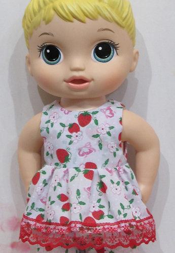 """12"""" Baby Alive doll: Strawberry Blossom Pyjamas, pjs"""