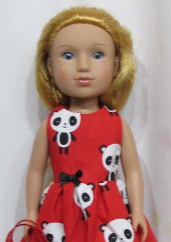 Glitter Girl or Wellie Wishers: Red Panda Dress, bag