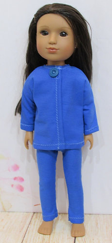 14.5 inch Glitter Girl or Wellie Wishers: Blue jacket, top, leggings