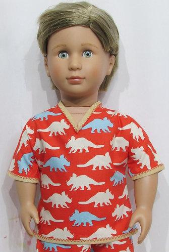 AG, OG Boy: Pyjamas, orange dinosaurs, pjs