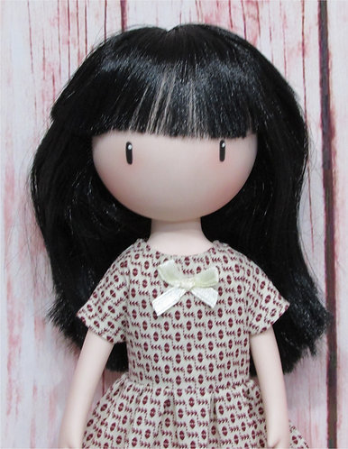 Paola Reina, Gorjuss doll 32cm: Cream Bow Dress and Bag