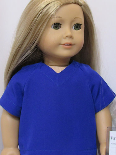 American Girl, Our Generation:  Royal Blue Scrubs Set, Clipboard