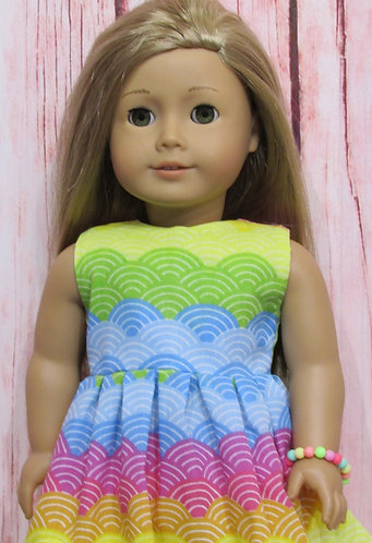 American Girl, Our Generation:  Rainbow Waves Dress Set
