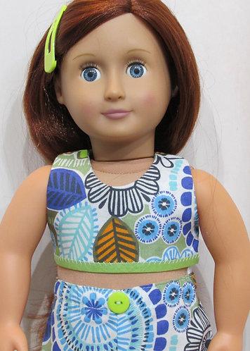 American Girl, Our Generation doll: Blue & GreenFlower Beach Set