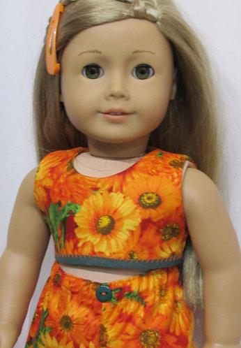 American Girl, Our Generation doll: Orange Flower Beach Set