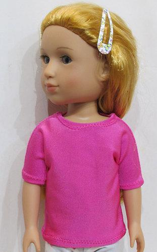 14.5 inch Glitter Girl, Wellie Wishers: Pink top, Unicorn leggings