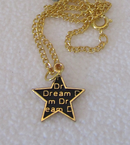 "Dream Star charm on chain necklace for any 18"" play doll"