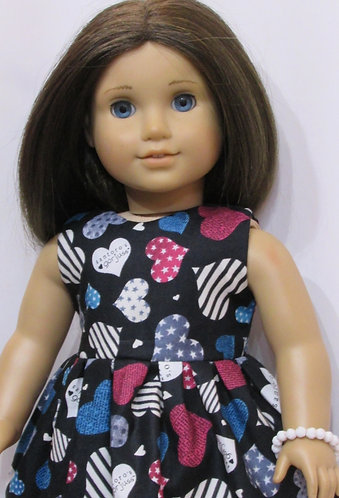 American Girl, Our Generation: Gorjuss Hearts Dress, bag, bracelet