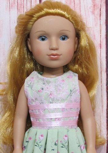 Glitter Girl or Wellie Wishers: Long Ribbon & Rosebuds Dress
