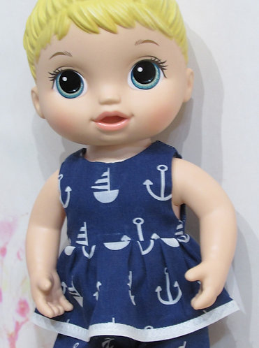 """12"""" Baby Alive doll: Navy Sailor Top and Trousers"""