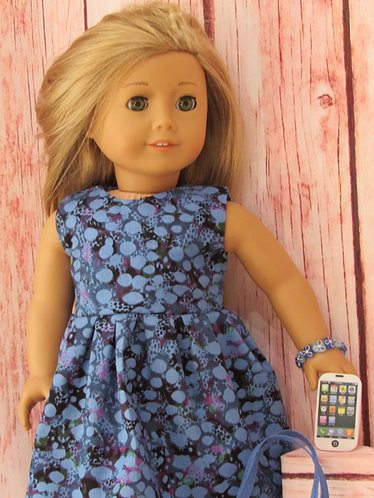 American Girl, Our Generation:  Blue Bubbles Dress Set and Phone