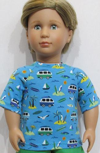 AG, OG Boy: Campervan Top, Green Shorts
