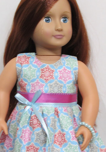 American Girl, Our Generation:  Christmas Snowflake Cookies Dress set