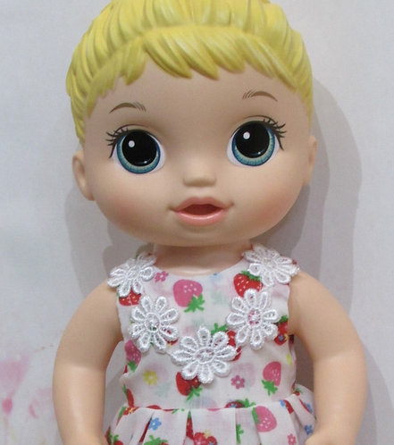 """12"""" Baby Alive doll: Strawberry Daisies Dress, matching panties"""