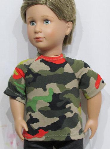 AG, OG Boy: Bright Camouflage Top, black jeans