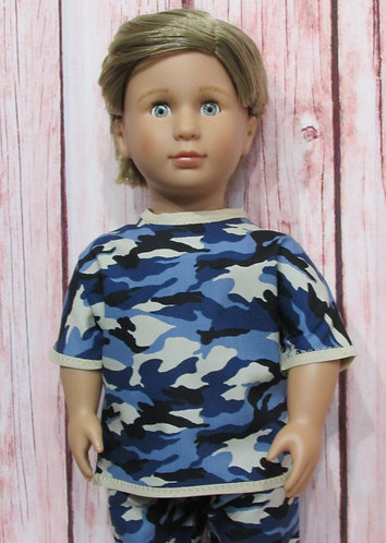 AG, OG Boy:  Blue Camouflage Top and Trousers