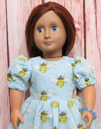 American Girl, Our Generation:  Busy Bees Dress, bag, bracelet