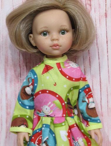 Paola Reina 32cm: Gorjuss Girls Print Dress and Bag