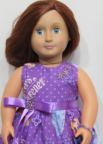 American Girl, Our Generation:  Purple Frozen Snowflake Set