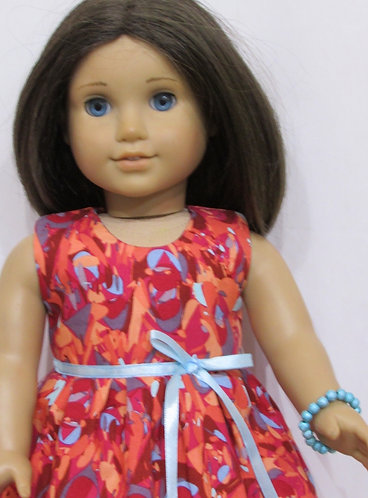 American Girl, Our Generation doll: Bright Abstract Dress, Brace