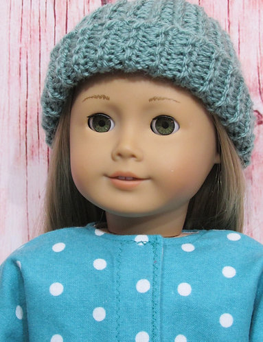 American Girl, Our Generation: Turquoise Spotted Coat and Hat Set