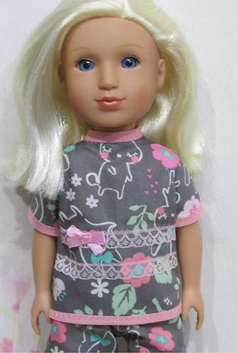 Glitter Girl or Wellie Wishers: Grey Springtime Pyjamas