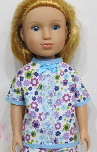 Glitter Girl or Wellie Wishers: Blue Daisy Pyjamas