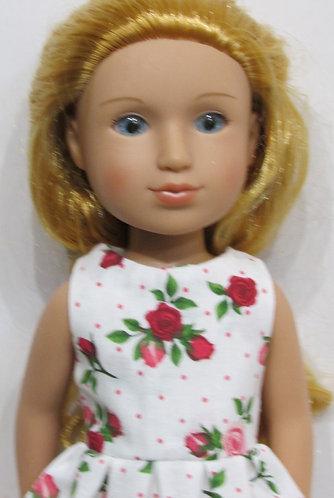 Glitter Girl or Wellie Wishers: Red Roses Dress, bag