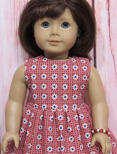 American Girl, Our Generation:  Red, White & Blue Dress Set