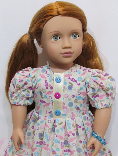 American Girl, Our Generation: Cream Sweeties Dress, bag, bracelet