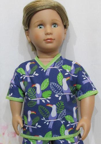 AG, OG Boy: Pyjamas, toucan jungle dreams, pjs