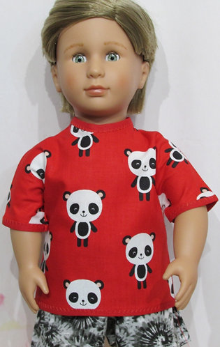 AG, OG Boy: Red Panda Top, Tie Dye Shorts