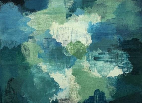 Caldera Green 2 Acrylic art painting