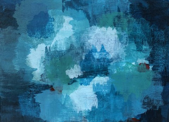 acrylic blue abstract 1 landscape art painting