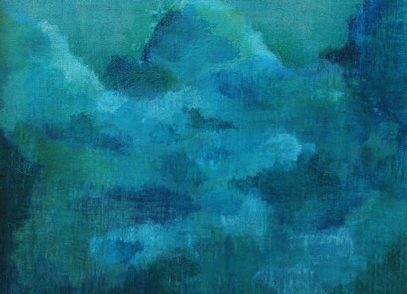 Coming Home acrylic blue abstract landscape art painting