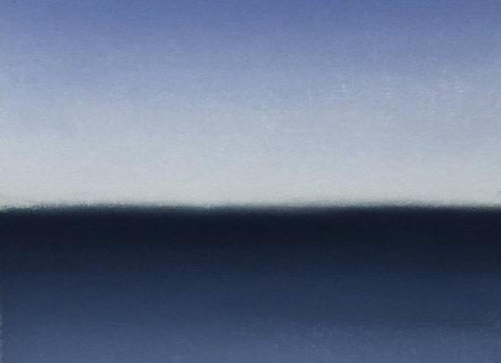 One Summer Day Blue ocean pastel landscape art painting