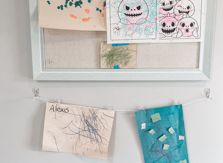 What to do with kids' artwork