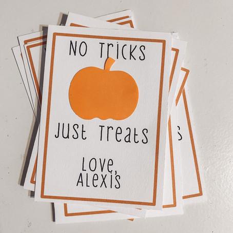 DIY Halloween Gift Tags
