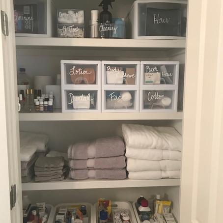 Master Bath Linen Closet Overhaul
