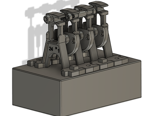 AIM-C03-43 7mm Scale 3D Printed point rodding chairs - triple (heavy) 10 each