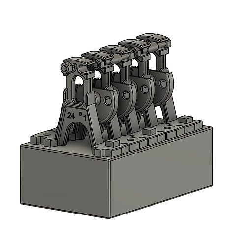 AIM-C04-43 7mm Scale 3D Printed point rodding chairs - QUAD (heavy) 10 each