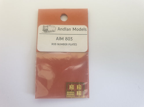AIM-803 ROD Number Plates